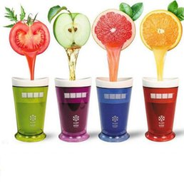 Wholesale Fruit Popsicles - Milkshake Smoothie Slush Shake Maker Cup Ice Cream Molds Popsicle Molds Freeze Ice Cream Maker Tools Fruit Smoothie OOA1875