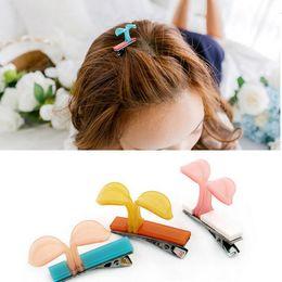 Wholesale Indian Bang Wholesale - Hot sale Hair ornaments cute little bean sprouts hairpin clip folder bangs folder small duckbill folder FJ037 mix order 60 pieces a lot