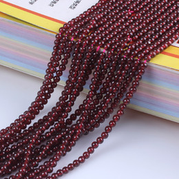 Wholesale loose garnet beads - Necklace Bracelets Garnet Loose Beads DIY Jewelry 3 Size 4mm 6mm 8mm Natural Round Women Reiki Chakra Amulet Jewelry Accessories maya bead