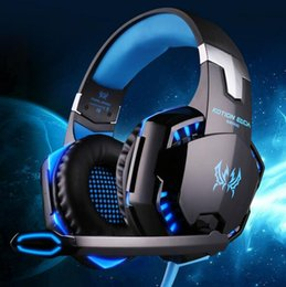 Wholesale Headset Headphone Microphone Pc - Gaming Headsets KOTION EACH G2000 Wired Earphone Gamer Headphone With Microphone LED Noise Canceling Headphones for Computer PC