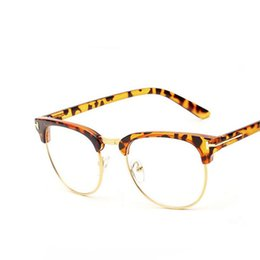e810774ee2b Discount solid gold eyeglass frames - Wholesale- New Designer Gold Semi  Rimless Men Eyeglasses Retro