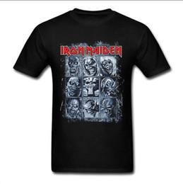 Wholesale Graphic Designs T Shirts - Iron Maiden Heavy Rock Unisex Graphic T Shirt New Summer Top Short Sleeve Custom Design Tee Shirt