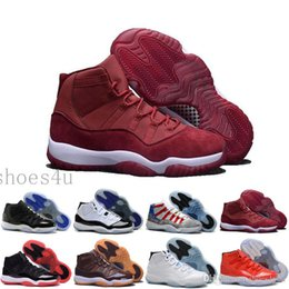 Wholesale Cheap Lycra Top - [With Box] Jumpman Cheap New Air Retro 11 Velvet Heiress Low High Top Quality Mens Basketball Shoes Sneakers Running Shoes For Men US5.5-13