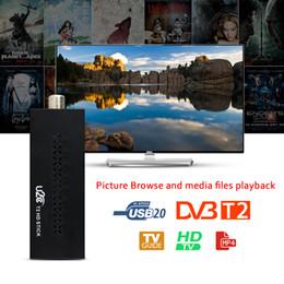 Wholesale Digital Mpeg4 Tv Receiver Usb - TV Stick DVB-T2 Chromecast 1080P Digital Terrestrial TV Receiver Set Top Box Comply DVB-T  T2 H.264 MPEG4 3D HDMI USB Tv-tuner
