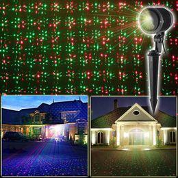 Wholesale led fireflies - RGB Outdoor Christmas Laser Light Laser Projector RGB Firefly Light LED Floodlight Waterproof IP65 Graden Landscape Lamp Lawn Holiday Light