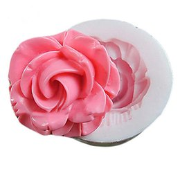 Wholesale Sugar Shaped - Beautiful Flowers Shape DIY Cakes Mould One Hole Flower Silicone Mold Fondant Molds Sugar Craft Tools Resin