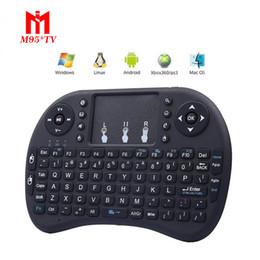 Rii i8 teclado sem fio mini-teclados fly air mouse multi-media controle remoto touchpad handheld para tv box android mini pc de
