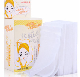 Wholesale makeup remover cotton pad - Wholesale New 100 Pcs lot Practical Durable Makeup Cosmetic Facial Cleaning White Cotton Remover Pads Wipes
