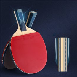Wholesale Carbon Table Tennis - BOER Table Tennis Racket Ping Pong Paddle Long   Short Handle Professional Carbon Table Tennis Racket 3 Balls 1 Bag 2pcs Film a2526002