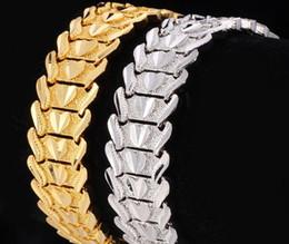 платиновые браслеты для мужчин Скидка Высокого качества! Мужчина женщина пара сердце браслет 18K Золото / Платина покрытием коренастый прекрасный часы ремешок браслеты ювелирные изделия