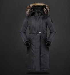 Wholesale Full Length Mink - DHL Free Shippin Women Coat Jacket Medium Length Woman Parka With A Mink Fur Winter Thick Goose Down Jacket Women New Winter Collection Hot