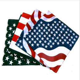 Wholesale American Flag Scarves - 2 Style USA United States american flag US Bandana Head Wrap Scarf Neck Warmer Print Scarf