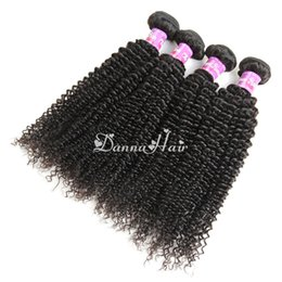Wholesale Mongolian Kinky Curly Hair 4pcs - Brazilian Kinky Curly Human Hair Weaveing Peruvian Malaysian Indian Cambodian Virgin Hair Wefts Natural Color 4pcs lot Hair Extensions