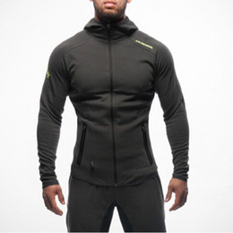 Wholesale Sports Shirts Printing - Mens Bodybuilding Hoodies Gym Workout Shirts Hooded Sport Suits Tracksuit Men Chandal Hombre Gorilla wear Animal
