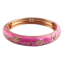 Wholesale Fashion Nation - nice pink Bracelet fantastic flower zinc alloy Bangles unique Accessories nation style fashion Jewelry Valentines Day Gifts for women F018