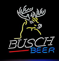 "Wholesale Busch Signs - New Busch Light Deer Deere Beer Bar Real Glass Neon Light Sign FAST SHIP 17""x14"""