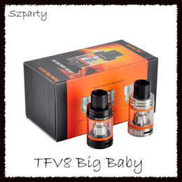 Wholesale Tops M2 - New Smok TFV8 Big Baby Tanks with 5ml TOP Filling Airflow Control Cloud beast V8 Baby-M2 Coils vs Stick V8 Starter Kits
