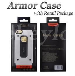 MOTOMO 2 en 1 Hybride TPU-Metal Case Housse de protection arrière brossé résistant aux chocs pour iPhone 6/7 plus Samsung S7 Note5 avec emballage de détail ? partir de fabricateur