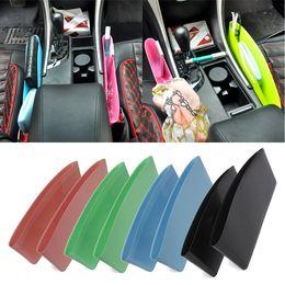 Wholesale Green Seating - Wholesale- Pair Catch Catcher Storage Organizer Box Caddy Car Seat Slit Seam Black Pink Green Blue
