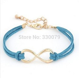 Wholesale Cheap Indian Wedding Jewelry - SL103 Hot Selling Cheap Wholsale Fashion Infinity Leather Bracelet Eight Cross Bangle For Girl Wedding Jewelry Accessories