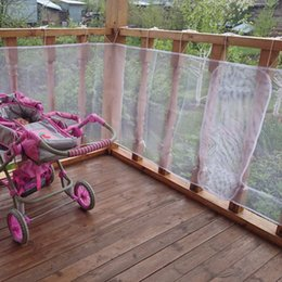 Wholesale White Color Fence - Wholesale- Railing Stairs Balcony Safety Protecting Net Baby Safety Fence Child Safety Products 2 3 Meters White Color