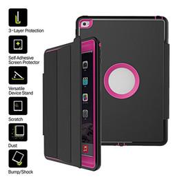 Wholesale Ipad Mini Magnetic Folio Case - 3 in 1 Hybird Defender Magnetic Smart Cover+Back Case For iPad Air 2 3 4 5 6 ipad pro 9.7 iPad Mini 2 3 4 Folding Case With Auto Sleep Wake
