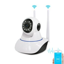 Wholesale Dual Network Alarms - Dual WiFi 360 Eye IP Security Wireless Camera Home Alarm Surveillance IR Night Vision Baby Monitors P2P Network HD Video Camera