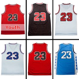 Wholesale Kid Basketballs - Mens Retro Michael Jerseys #23 Youth Kid Stitched Throwback Basketball Jerseys High Quality Mix Order Wholesale Hot Sale