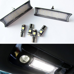 Wholesale Car Roof Led Lights - White 24 LED Light Car Interior Roof Dome Ceiling Lamp Bulb For BMW E90 E91 E92 3-SERIES 2006-2011 Reading Light Car-styling