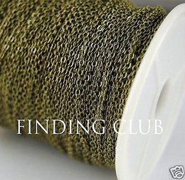 Wholesale Antique Ship Chain - FACTORY 10M(32ft) 1.5mm Antique Bronze Brass Soldered Chain Flat Cable Chain Necklace DIY Jewelry C25 free shipping
