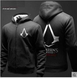 2019 assassins hoodie Heiße neue Assassins Creed III 3 Conner Kenway Hoodie-Mantel Cosplay Kostüm günstig assassins hoodie