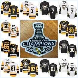 Wholesale Boys Toms - Youth Kids 2016 2017 Stanley Cup Champions Jersey 17 Bryan Rust 23 Scott Wilson 25 Tom Sestito 28 Ian Cole Pittsburgh Penguins Jerseys