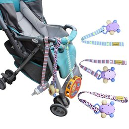 Wholesale Strap Fixed - Wholesale- Fashion Hot Sales Fixed Toys Rope No Drop Baby Bottle Toy Sippy Cup Holder Strap For Stroller New Color Random