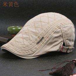 Wholesale Gatsby Hat Cotton - Wholesale-DT599 100% Cotton Men's Gatsby Cap Newsboy Ivy Hat Vintage Gorras Casquette Hats for Women Unisex Beret Cap Hat Mens Cabbie Hats
