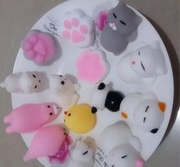 Wholesale Little Plastic Animal Toys - 500PC Hasbro Toy Kawaii Original Japan Lazy Cat Mochi Decompress Squishy Squeeze Cat Healing Toy Cute Little Animal Dumpling Gifts for Kids