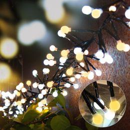 Globe de lumière clignotante en Ligne-10ft 400 LED Globe Étanche Fée String Light Flash LED Cordes avec 8 Modes d'éclairage pour Mariage Extérieur / Intérieur Chambre Partie De Noël