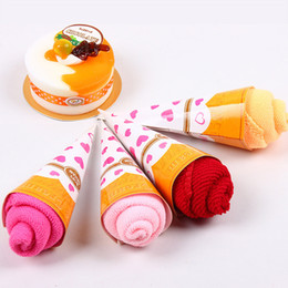 Wholesale Christmas Hand Towels - 20x20cm Microfibre Towel Quickly-Dry Cupcake Ice Cream Towels Christmas Gift Face Hand Hair Towel