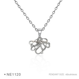Wholesale Octopus Slide - Antique Silver Plated Octopus Charm pendants Chain Necklaces For Women Men Birthday Best Gifts Platinum Metal Necklaces