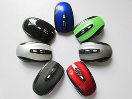 Wholesale Wholesaler Computers Laptops - USB Optical Wireless Mouse USB Receiver mouse 6D 7500 Energy-Saving Mice for Game Computer Tablet PC Laptop With Retail Package DHL