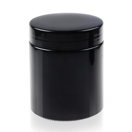 Wholesale Black Glass Jars - REANICE Black UV glass jar with Black cap food preservation jar Airtight Cheap and easy to clean Luxury Experience Cheap jar