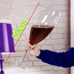 Wholesale Beer Drinking Mugs - 50cm creative Super large champagne glass hanap red wine goblet cup ktv big capacity beer mug drinking glasses home hotel decoration