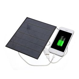 Wholesale Usb Powered Devices - 2016 New Arrive6V 3.5W Solar Power Panel Charger USB OTG Portable Solar Charger Device Solar Panel Power Source for phone