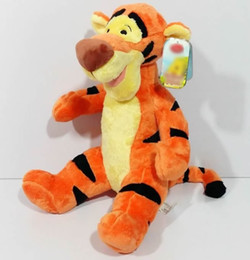 Wholesale Stuffed Tigers Free Shipping - Free Shipping 42Cm =16.5''Cartoons Tigger Tiger Stuffed Animal Plush Toy Birthday Gift