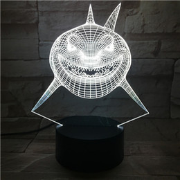 Wholesale Remote Table - New Remote Control 3D Cartoon shark Table Lamp USB Colorful 7 Color Change LED Home Party Bedroom Decorative Night Light Gift wn311