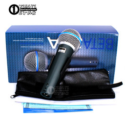 Wholesale Professional Audio Pc - Super Cardioid Dynamic Vocal Wired Microphone Professional Microfono Mike For Beta58A Singing Karaoke Mixer Audio Record Video PC Microfone