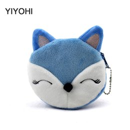 Wholesale Buggy Pouch - Wholesale- New 2016 Cartoon Fox Children Coin Purse Coin Bag Lady Cute Wallet Pouch Women Girl Makeup Buggy Bag Free Shipping