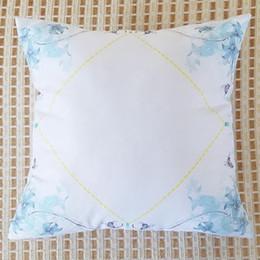 35 pezzi fai da te in bianco termostato cuscino 40x 40 cm sublimazione cuscino personalizzato decorazione cuscino spedizione gratuita da coperture all'ingrosso del sedile dell'automobile del fumetto fornitori