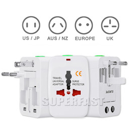 Wholesale One Iphone - Universal International Adaptor All in One Travel AC Power Wall Charger For US EU UK AU Converter Plug with Retail Package