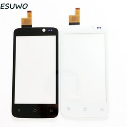 Wholesale 3m Glass - Wholesale- ESUWO Touch Screen Digitizer For Fly IQ447 IQ 447 ERA Life1 Front Glass Panel Touchscreen Sensor Glass +3m Sticker