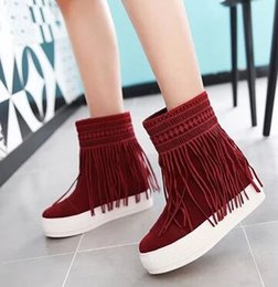 Wholesale Thick Naked Women - Wholesale New Arrival Hot Sale Specials Influx Warm Noble Snow Suede Martin Thick Bottom Tassel Noble Naked Casual Ankle Boots EU34-43